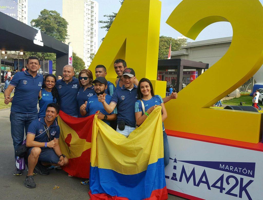 Maratón de Lima 42K 2017. Club de Atletismo Hernán Barreneche Ríos