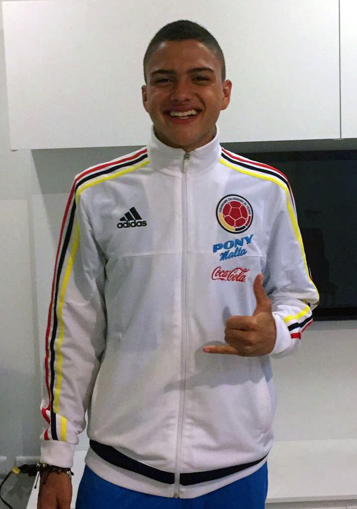 Luis David Gonzales en Selección Colombia Sub 15.