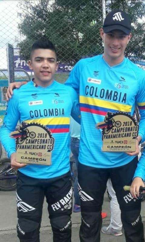 Juan Felipe Marín y Carlos Mario Álvarez BMX